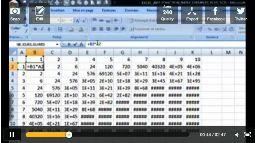 Excel 2007 faire une table de multiplication