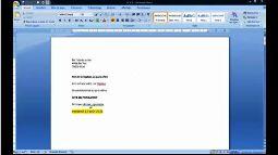 Word 2007 aligner texte