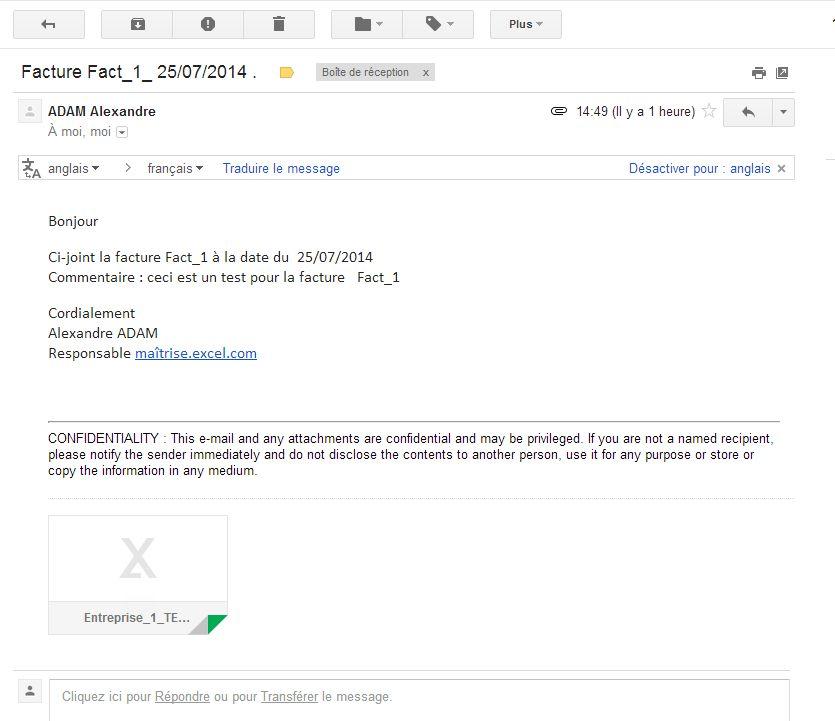 EXCEL OUTLOOK - Envoi mail: Macro excel envoi email avec ...