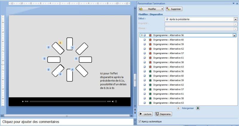 Comment faire un effet attente type vidéo sur Powerpoint