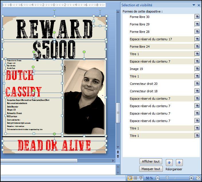 Powerpoint 2007 : Comment faire une affiche rechercher mort ou vif sur Powerpoint en moins de 10 min.