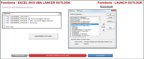 EXCEL_2010_VBA_LANCER_OUTLOOK Excel 2010 : Comment lancer Outlook 2010 en VBA en moins de 3 min.
