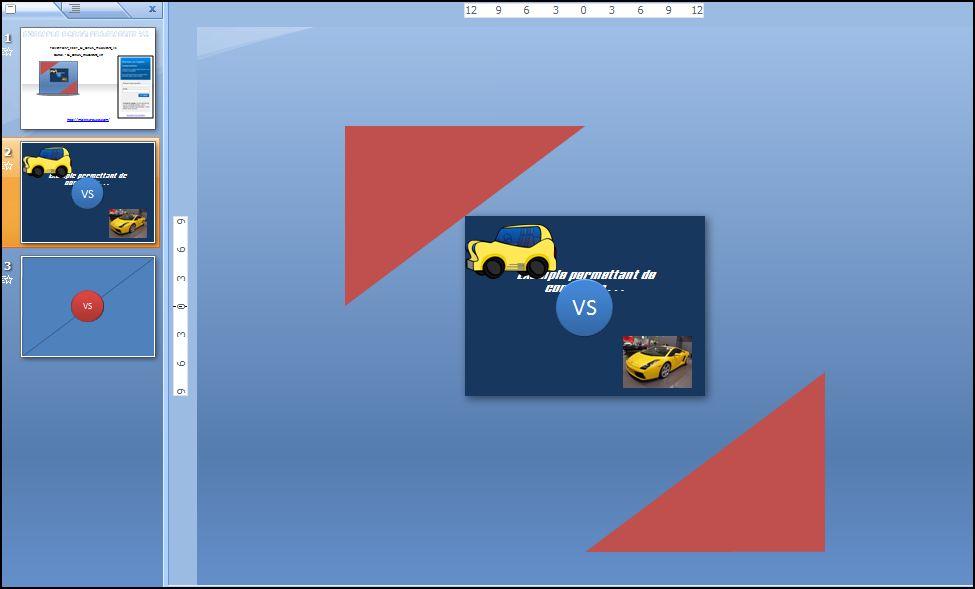 powerpoint 2007   comment faire un  u00e9cran fragment u00e9 v3 sur