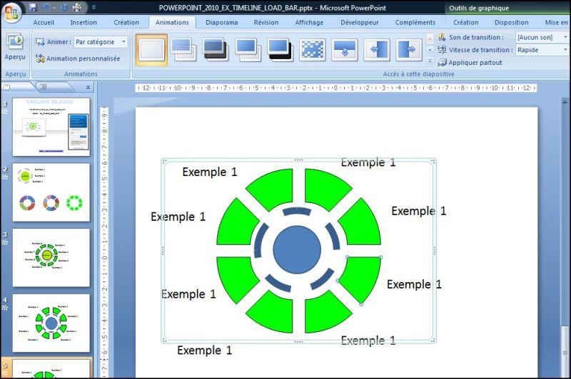 Powerpoint 2007 : Comment faire une timeline load bar sur Powerpoint en moins de 9 min.POWERPOINT_2007_EX_TIMELINE_LOAD_BAR