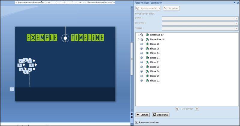 Powerpoint 2007 : Comment faire une timeline sur Powerpoint en moins de 4 min.POWERPOINT_2010_EX_CHRONO_TIMELINE