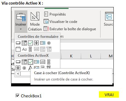 Excel 2016 : Comment créer une case à cocher par deux méthodes sur Excel en moins de 3 min.