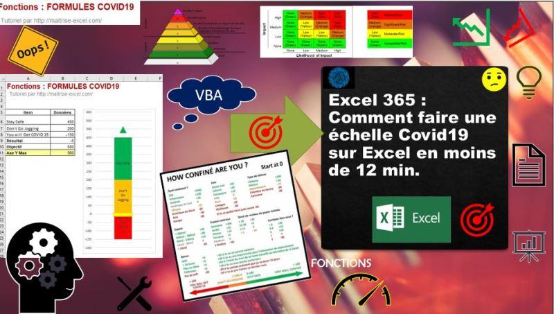 Excel 365 : Comment faire une échelle Covid19 sur Excel en moins de 12 min.