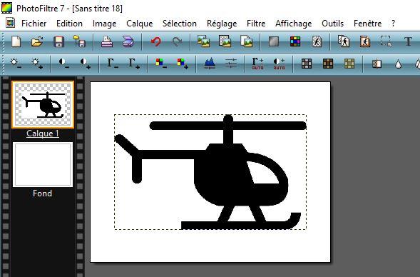 Présentation interface Photofiltre 7 : utilisé pour évider image