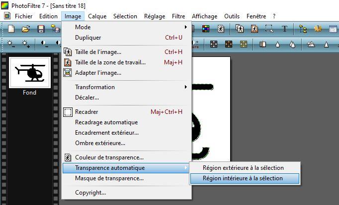 Exemple utilisation pour la transparence automatique