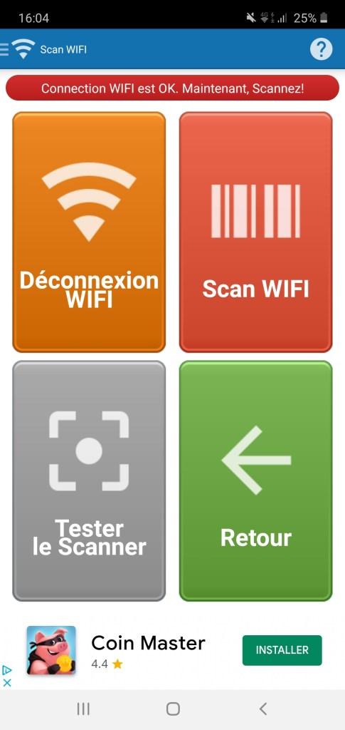 Utiliser un lecteur de code-barres (douchette) sur Excel exemple visu téléphone