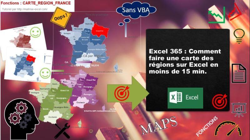 Excel 365 : Comment faire une carte des régions sur Excel en moins de 15 min.