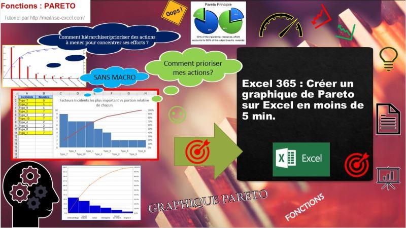 Excel 365 : Créer un graphique de Pareto sur Excel en moins de 5 min.