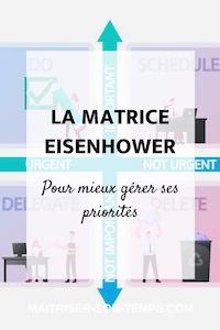 La matrice Eisenhower : pour mieux gérer ses priorités