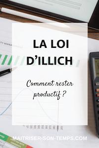 Comment rester productif grâce à la loi d'Illich?