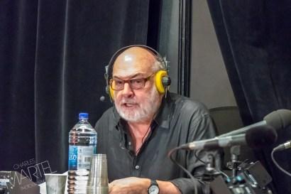 René Homier-Roy à la radio, salon du livre, Place Bonaventure, Montréal, Qc