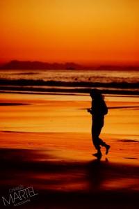 Jogging sur la plage - Californie