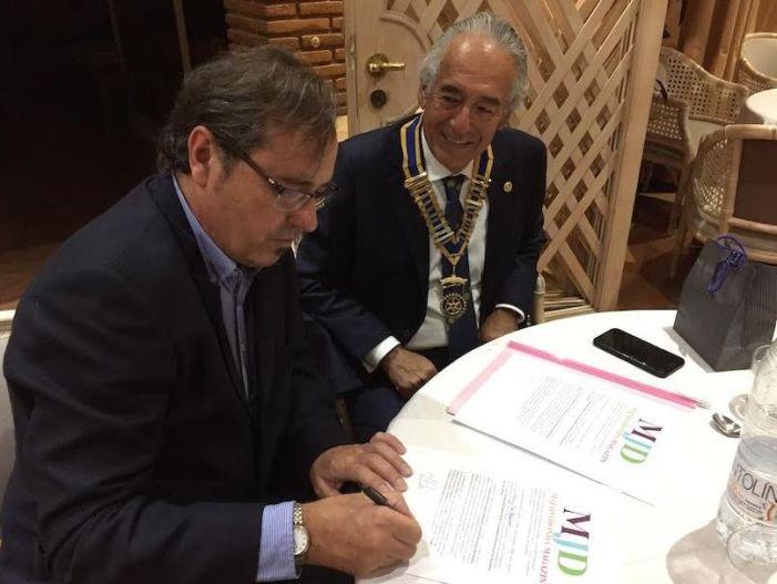 El Rotary Club de Majadahonda y MJD Magazin se unen en un convenio de colaboración mutua