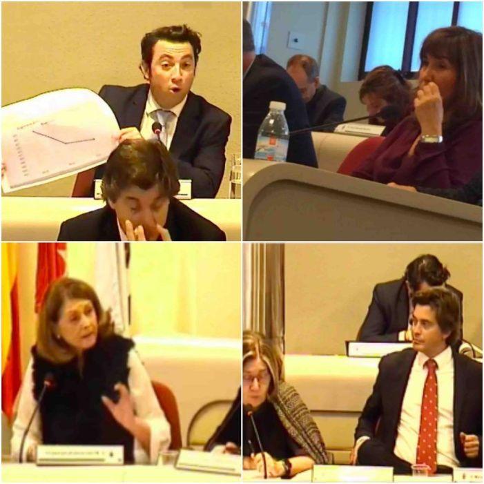 Socorro Montesdeoca (PSOE) se estrena como portavoz en Presupuestos ante Angel Alonso (PP)