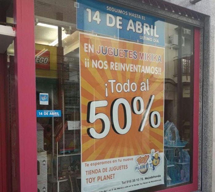La juguetería Mikika Majadahonda amplía su 50% de descuento hasta el 14 de abril