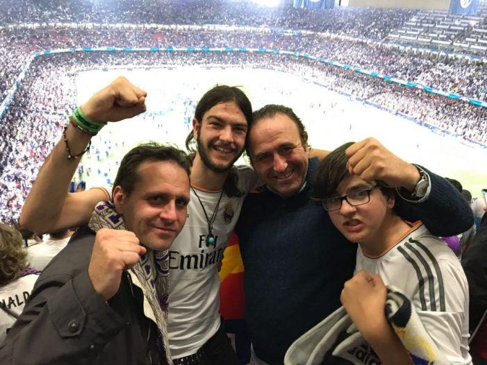 La peña familiar de Majadahonda se busca la ruina si ve la final del Real Madrid en Kiev (Ucrania)