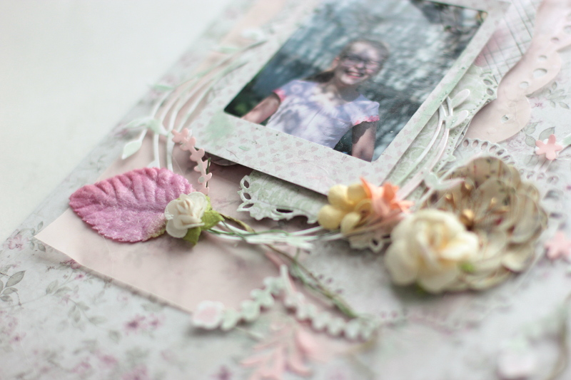 Spring Layout with Maja Design and Spellbinders