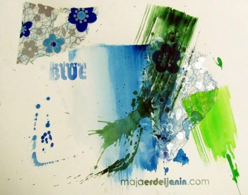 HOOLOOVOO BLUE, 30 x 40 cm