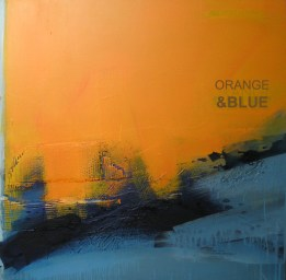 ORANGE & BLUE, 100 x 100 cm