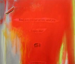 ENJOY LIFE, 100 x 120 cm