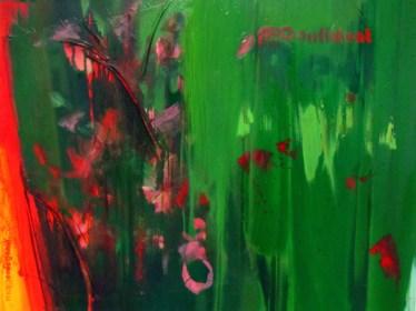 CONFIDENT RED, 60 x 80 cm