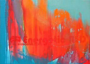 ENERGETIC RED, 30 x 40 cm