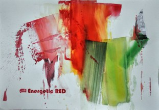 ENERGETIC RED, 70 x 100 cm