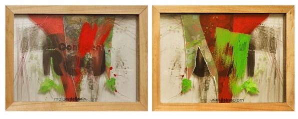 CONFIDENT RED, 20 x 30 cm