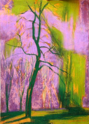 TREE AND LEAF: PASTEL 12