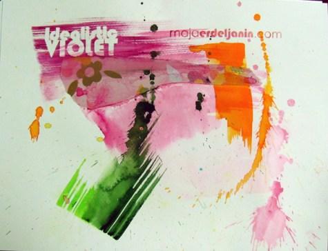IDEALISTIC VIOLET, 30 x 40 cm