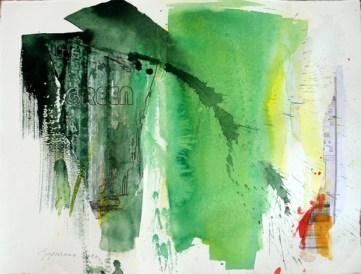 PHOTOSHOPED GREEN, 30 x 40 cm