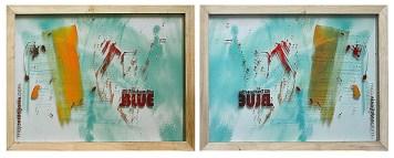 TRUSTWORTHY BLUE,30 x 40 cm