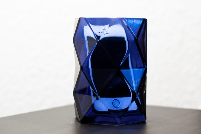 iPhone 5s inside a blue vase
