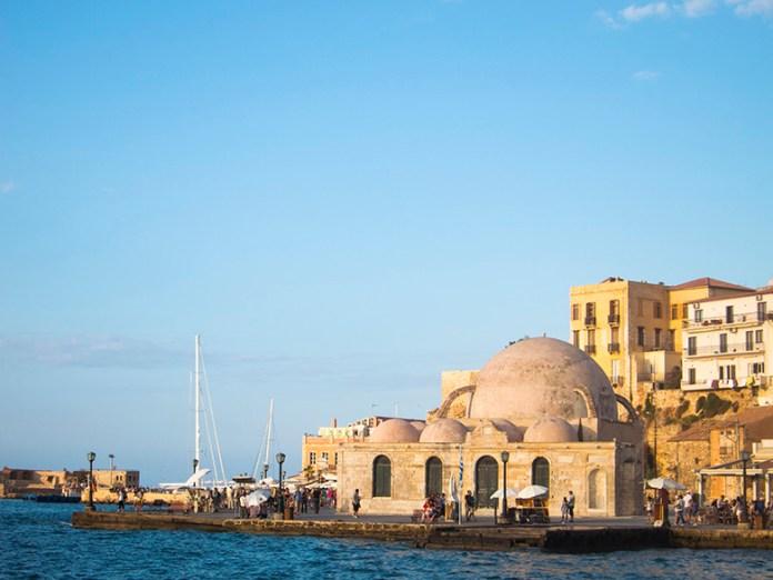 The venetian harbor in Chania