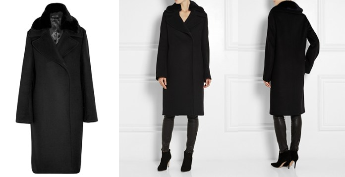 Acne StudioEra shearling-trimmed wool coat