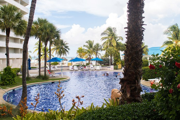 Pool at Melia Nassau Beach hotel in The Bahamas.