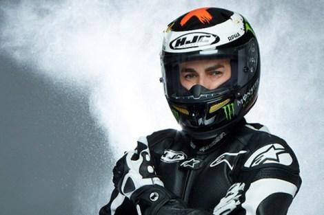 Jorge Lorenzo - New HJC Helmet