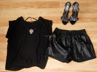 H&M shorts, Primark chiffon blouse and shoes, Topshop necklace