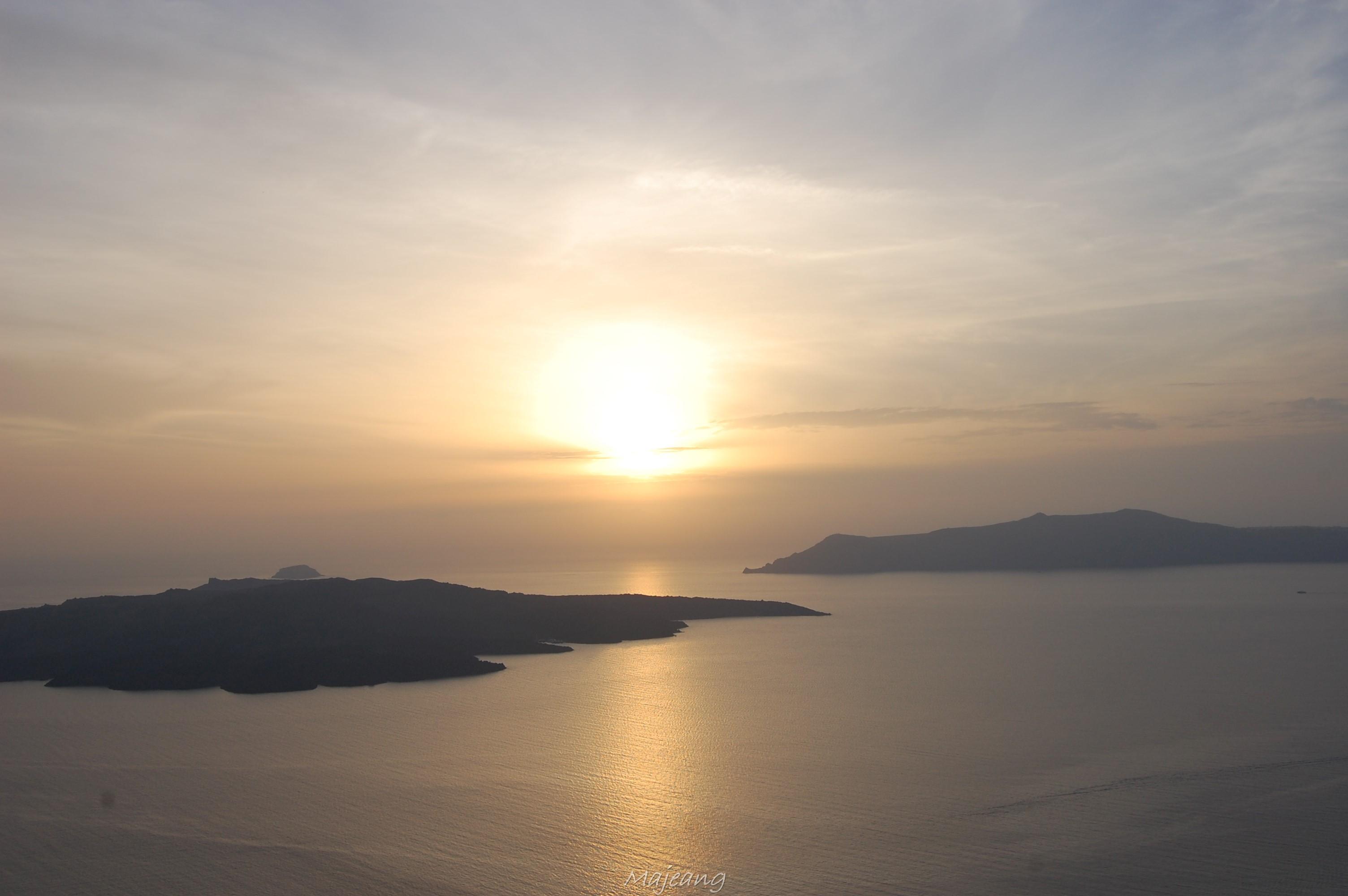 Fira sunset