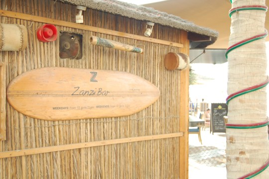 Zanzi bar at Kempinski hotel, Ajman