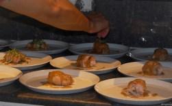 chicken course prep, la tavolata at oro 1889