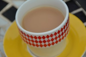 Diamond tea cup
