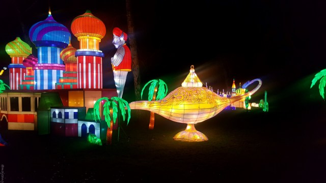 Aladdin at magical lantern festival on www.majeang.com
