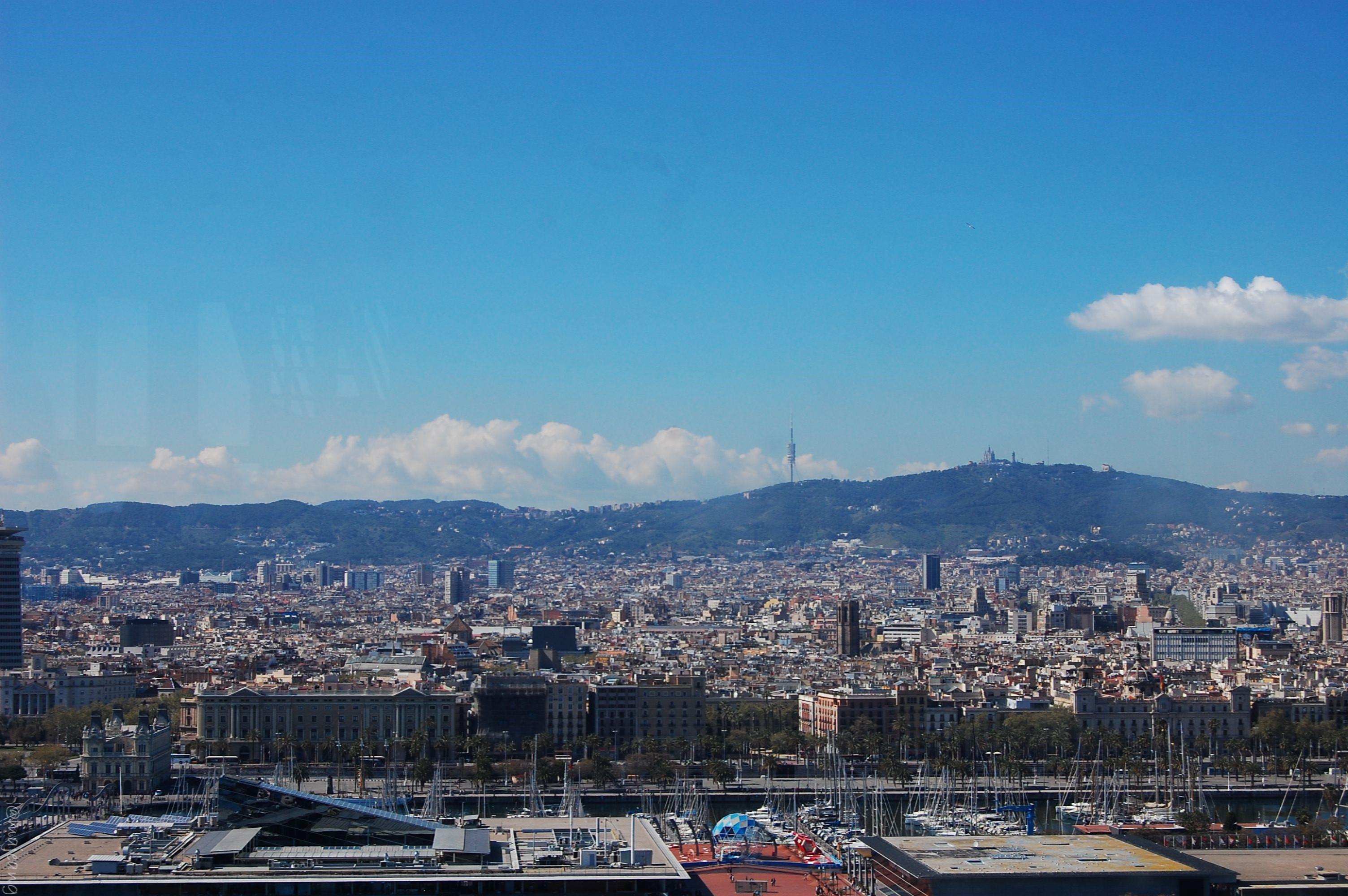 View overlooking Miramar, Barcelona