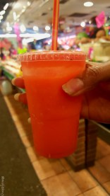 Las Ramblas market fresh juice