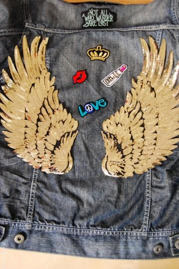 denim jacket diy- final look